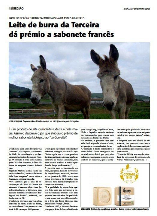 Leite de Burra da Terceira dá prémios a sabonete francês